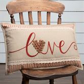 Ozark Embroidered Pillow Beige Rectangle