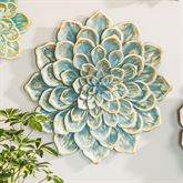 Floral Garden Single Blossom Wall Accent Blue Large
