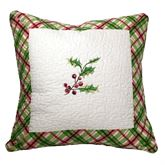 Winter Wishes Piped Pillow Eggshell 18 Square