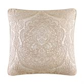 Renaissance Scroll Piped Pillow Sand 20 Square