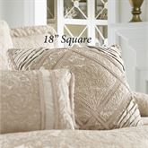 Renaissance Scroll Tailored Pillow Sand 18 Square
