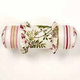 Butterfly Garden Ruffled Pillow Ivory Neckroll