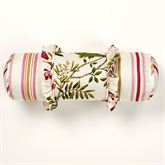 Butterfly Garden Ruffled Pillow Ivory Neckroll