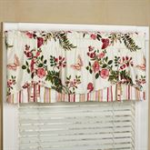 Butterfly Garden Layered Valance Ivory 60 x 18