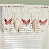 Butterfly Garden Embroidered Valance Ivory 60 x 18