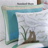 Whispering Sands Quilted Sham Multi Cool Standard