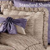 Baroness Tailored Standard Sham Dark Beige