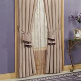 Baroness Lined Curtain Pair with Tiebacks Dark Beige 84 x 84