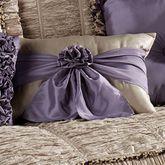Baroness Rectangle Pillow with Sash Dark Beige