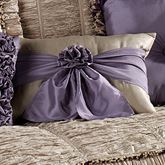 Baroness Rectangle Pillow with Sash Dark Beige