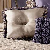 Baroness Reversible Square Pillow Dark Beige/Grape 18 Square