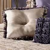 Baroness Reversible Square Pillow Dark Beige/Grape 18 Square