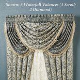 Sterling Diamond Waterfall Valance Steel Blue 48 x 30