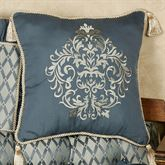 Sterling Embroidered Square Pillow Steel Blue 18 Square