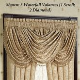 Newcastle Diamond Waterfall Valance Tan 48 x 30