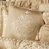 Newcastle Embroidered Square Pillow Tan 18 Square