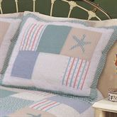 Nautical Breeze Quilted Sham Sky Blue Standard