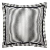 Paisley Pizzaz Striped Tailored Sham Charcoal European