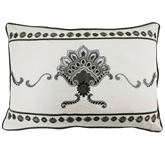 Paisley Pizzaz Embroidered Pillow Charcoal Rectangle