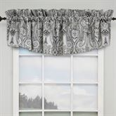 Paisley Pizzaz Tailored Valance Charcoal 79 x 18