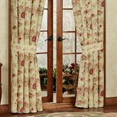 Vintage Rose Tailored Curtain Pair Flax 84 x 84