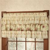 Vintage Rose Ruffled Valance Butter 60 x 19