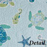 Imperial Coast Quilted Sham Light Blue Standard
