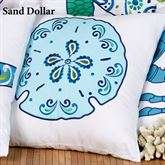 Imperial Coast Sand Dollar Pillow White 18 Square