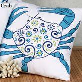 Imperial Coast Crab Pillow White 18 Square