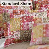 Kendall Quilted Sham Coral Standard