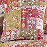 Kendall Quilted Pillow Coral 16 Square