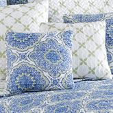 Trina Reversible Quilted Pillow Blue 16 Square