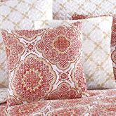 Trina Reversible Quilted Pillow Cinnabar 16 Square