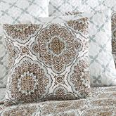Trina Reversible Quilted Pillow Cocoa 16 Square