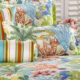 Island Paradise Flanged Pillow Light Cream Rectangle