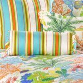 Island Paradise Striped Piped Pillow Light Cream Neckroll