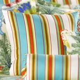 Island Paradise Striped Tailored Pillow Light Cream 18 Square