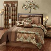 Urban Leaves Comforter Set Multi Warm
