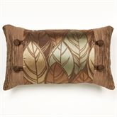 Urban Leaves Tailored Pillow Multi Warm Rectangle