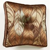 Urban Leaves Tufted Pillow Multi Warm 18 Square