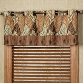 Urban Leaves Grommet Valance Multi Warm 60 x 18