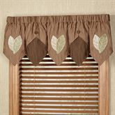 Urban Leaves Layered Valance Multi Warm 72 x 20