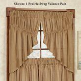 Burlap Prairie Swag Valance Pair Natural 72 x 36