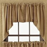 Burlap Swag Valance Pair Natural 72 x 36