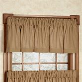Burlap Tailored Valance Natural 72 x 16
