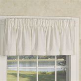 Burlap Tailored Valance Antique White 72 x 16