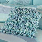 Tides Shaggy Square Pillow Cerulean Blue 16 Square