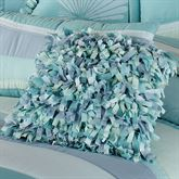 Tides Shaggy Square Pillow Cerulean Blue 16 Square