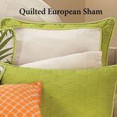 Capri Quilted Sham Ivory European