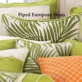 Capri Piped Sham Ivory European